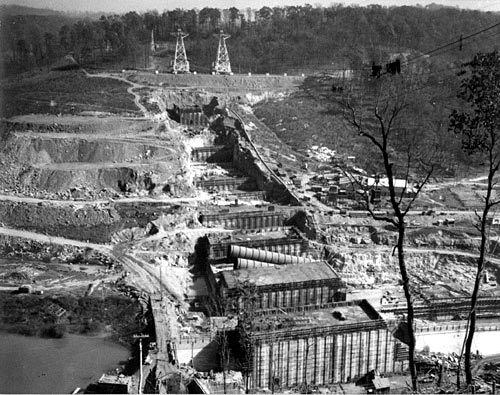 Welcome Tennessee Teachers and Students! - Construction on Norris Dam